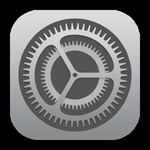 icone réglages sous iOS